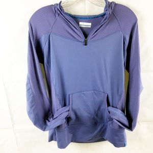 (7-057) Columbia Long Sleeve Hooded Pullover M
